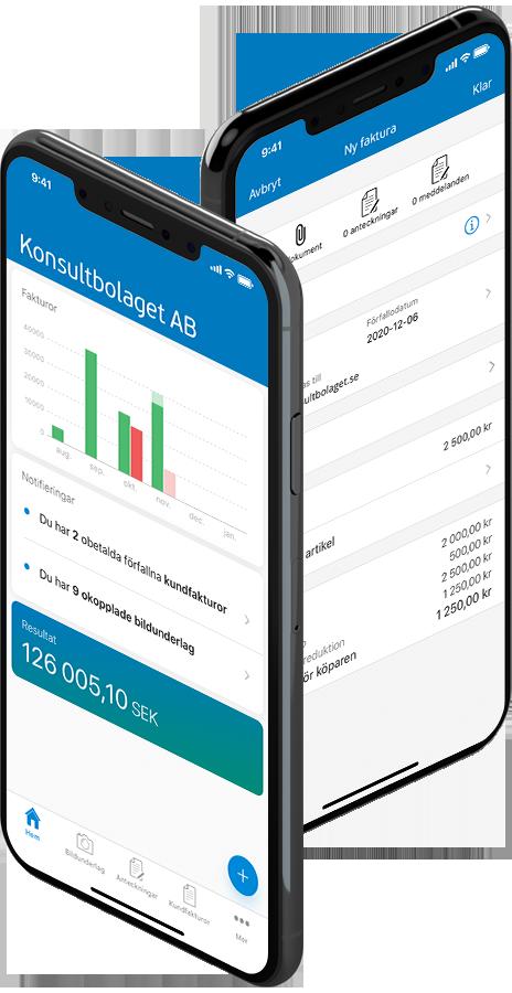 Följ ditt företag i mobilen med Visma eEkonomis mobilapp