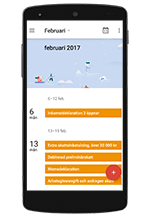 Tax calendar 2017 in your mobile