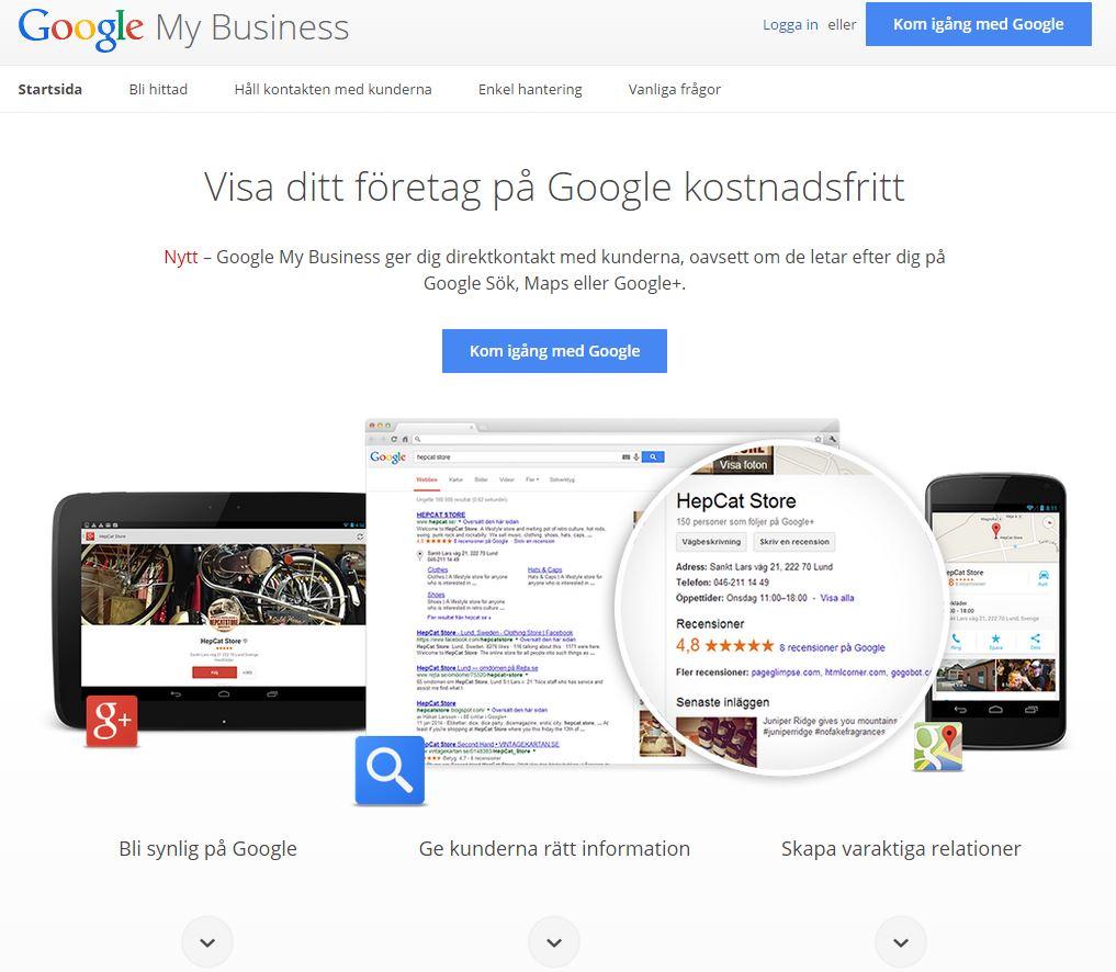 Bli hittad på nätet Visma Spcs Google MyBusiness