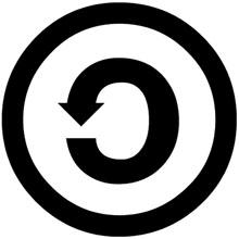 Omvänd copyright? Dela lika, eller share alike (sa), kallas ofta de friare varianterna av Creative Commons licenser där du som användare får göra i princip vad du vill med verket så länge du också delar med dig av resultatet på samma sätt, det vill säga samma grundtanke som med copyleft