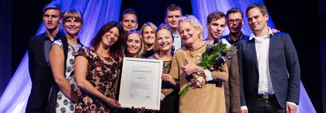 FAR utser Deskjockeys som vinnare av Årets framtidsbyrå 2014. Foto: FAR