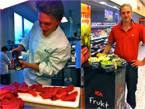 Christian Eriksson (till vänster) och  Marcus Andersson (till höger) är  unga entreprenörer som ser stor  potential till att expandera sitt  bemanningsföretag i framtiden.