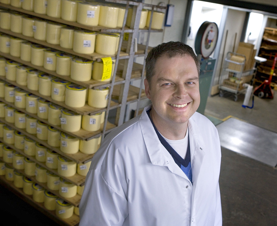 Marcus Jansson, vd  för Gäsene Mejeriförening