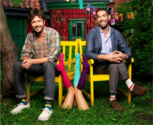 Viktor Tell och Mikael Söderlindh  lade grunden för Happy Socks  en molntäckt aprildag 2008.
