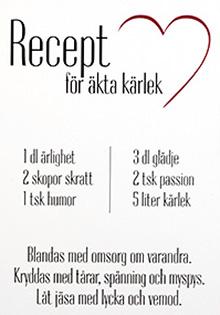 Recept för äkta kärlek