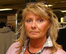 """Monica trivs med att vara  självgående """"småföretagarchef""""  för Röda Korsets Dackekupa i  Växjö."""