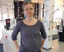 Cecilia Götbo är ekonomiansvarig på Vattenhuset i Borlänge.