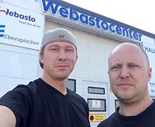Henric Andersson och Tony Stenders är  de två unga som tog över företaget som Tonys pappa startade för 40 år sedan.