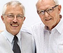 Jan Ekermann och Robert W Grubbström grundare Ung Företagsamhet