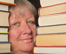 Kerstin Rydén älskar att läsa.