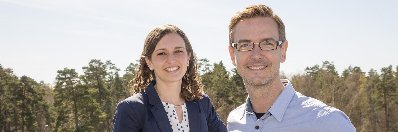 Nina Solborg och Sebastian Bäckström