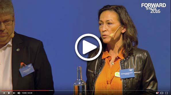 Paneldebatt på Visma Forward 2016 med Stefan Andersson, Katarina Hedström Klarin, Bengt Skough och Daniel de Sousa