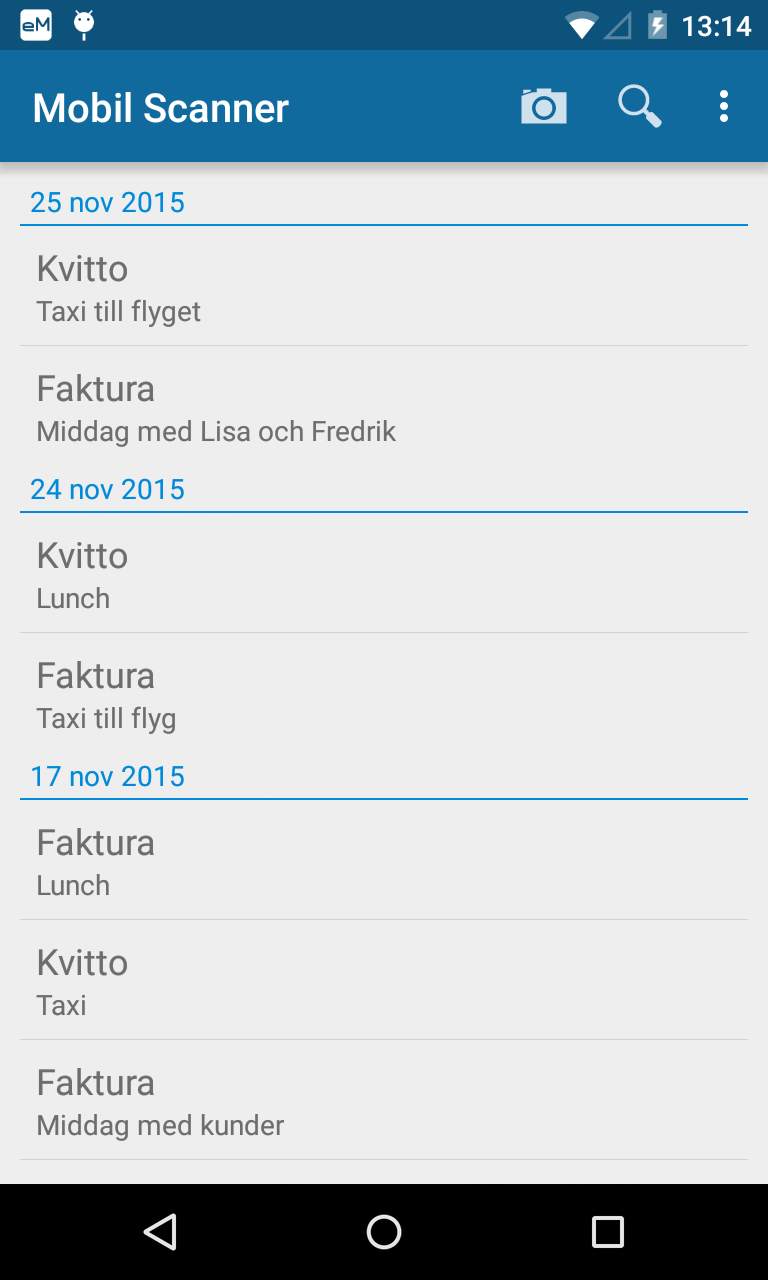 Visma Mobil scanner i Android