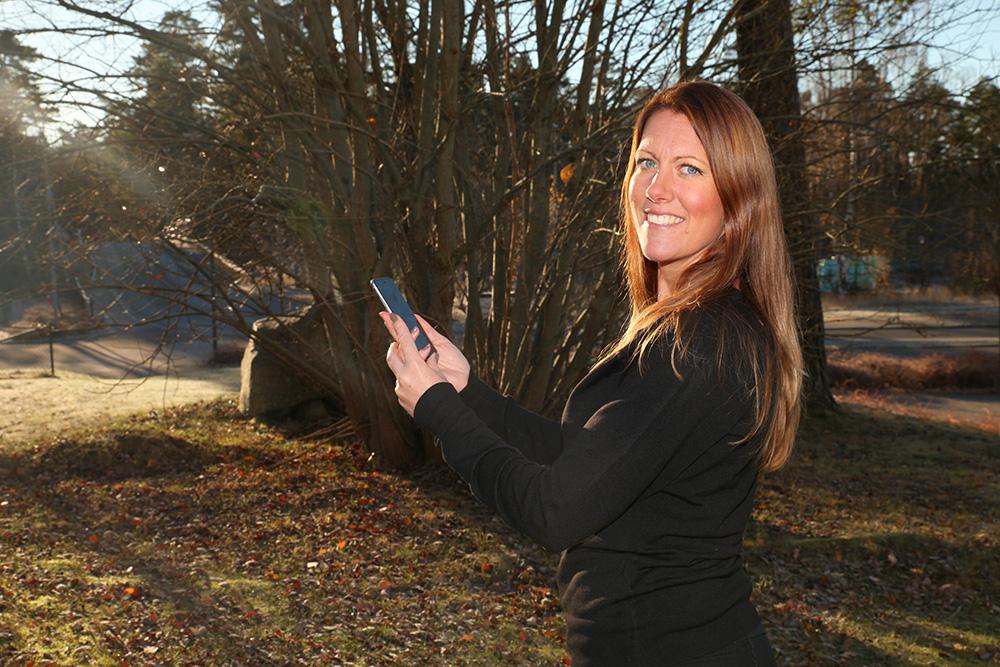 Maria Olsson, app-utvecklare på Visma Spcs.