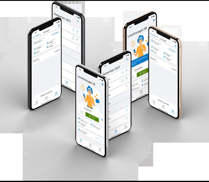 Digital stämpelklocka - Visma Lön Anställd-appen