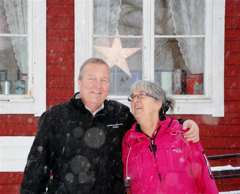 Stefan och Birgitta Lander driver Bed & Breakfast