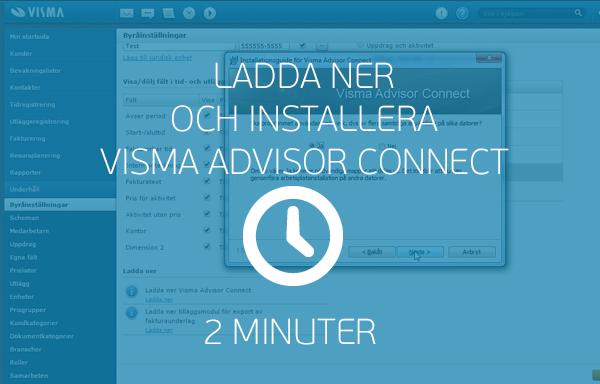 Ladda ner och installera Visma Advisor Connect